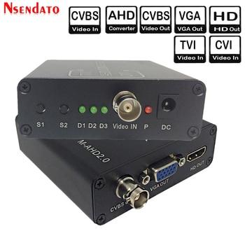 720/1080P 5MP 2MP TVI CVI AHD signal to HD/VGA/CVBS signal Converter Adapter For CCTV Camera Video Convert with HDCP NTSC PAL 1