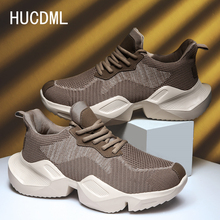 HUCDML New Thick-soled Chunky Casual Shoes Men Comfortable P