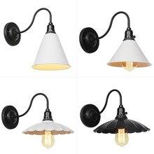 цена на Retro Industrial Wall Lamp Creative Personality American Loft Iron Living Room Dining Room Study Bedroom Bedside Wall Lamp