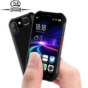 Image 1 - Nhỏ Mini Chống Sốc Điện Thoại Di Động NFC SOS Máy Bộ Đàm 3GB + 32GB 4G Chắc Chắn Điện Thoại Thông Minh Android Vân Tay mặt ID ĐTDĐ