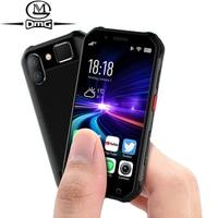 Pequeño mini a prueba de golpes a prueba de teléfono móvil NFC SOS Walkie talkie 3GB + 32GB 4G smartphone robusto android de huellas dactilares cara de teléfono móvil