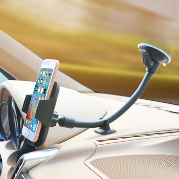 Windshield Car Phone Holder Long Arm Windshield Mount Stand Cradle Universal Support for SmartPhones 4-6 inch Cell Mobile Phone