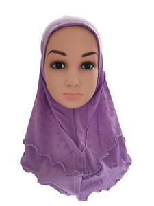 Image 4 - Arabischen Kinder Mädchen Hijab Caps Muslimischen Kopf Abdeckung Schals Kopftuch Islamischen Hut Volle Abdeckung Gebet Hut Haar Verlust Headwear Hüte ramadan