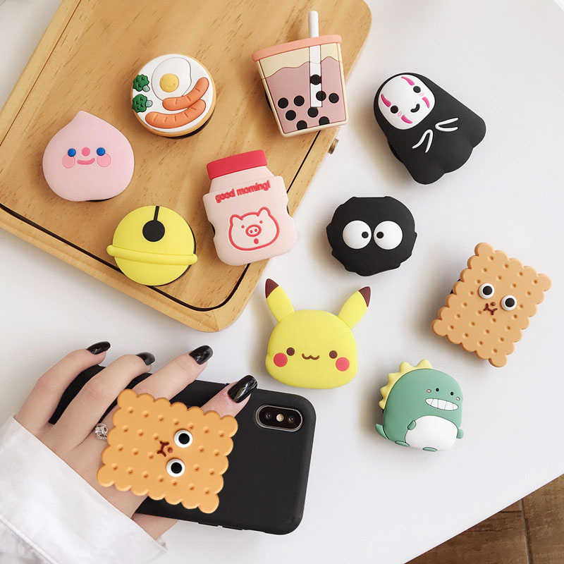 Universele cellphone Ring Stand leuke anime Cartoon air bag telefoon Houder stretch beugel finger Stand grip Strap mobiele Uitbreiden
