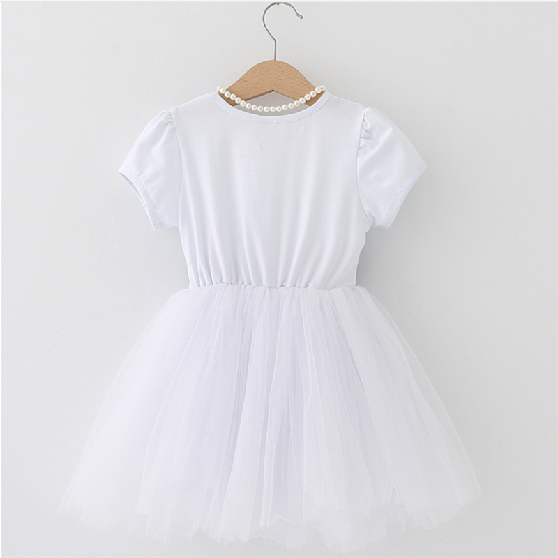 Summer Kids Dresses For Girls short Sleeve Children Clothing Tutu Girls Casual School Wear Princess Party Dress 2020 New 25 4