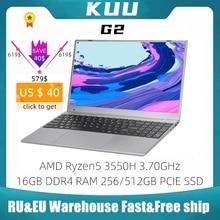 KUU G2 Gaming Laptop AMD Ryzen5 3550H 16GB DDR4 RAM 256/512GB PCIE SSD 15.6-inch IPS Screen Office/Gaming Notebook