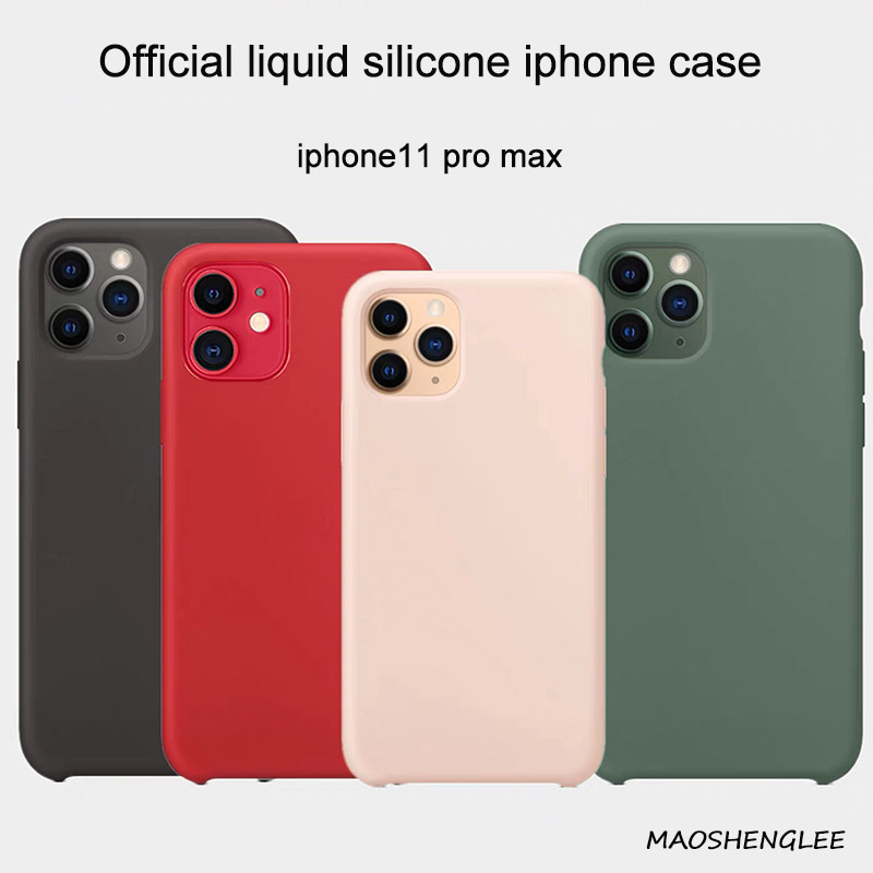 Thin Soft for <font><b>iPhone</b></font> 6 <font><b>6s</b></font> 7 8 Plus X Xs XR cover for <font><b>iPhone</b></font> 11 Pro Max <font><b>case</b></font> Liquid Silicone <font><b>Original</b></font> Liquid image