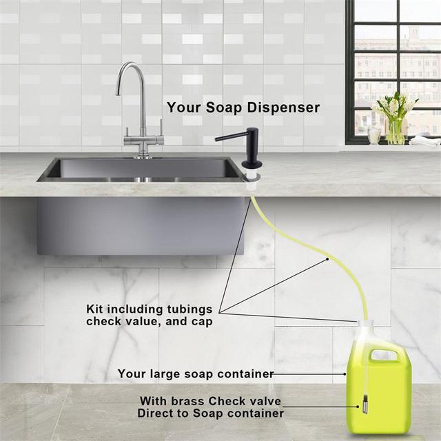 Samodra Sink Soap Dispenser and Extension Tube Kit Brass Pump Head  Kitchen Bathroom Sink Pump Easy To Install