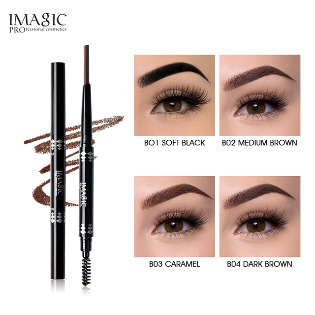 IMAGIC New Arrivals Professional Eyebrow Gel High Brow Tint Makeup Eyebrow Brown Eyebrow Gel With Brow Brush Tools 3