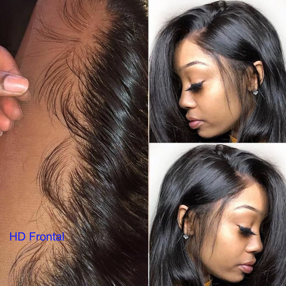 JayMay 13x4 HD Lace Frontal Brazilian Body Wave Frontal Pre Plucked HD Lace Frontal Closure Transparent Lace Frontal Virgin Hair