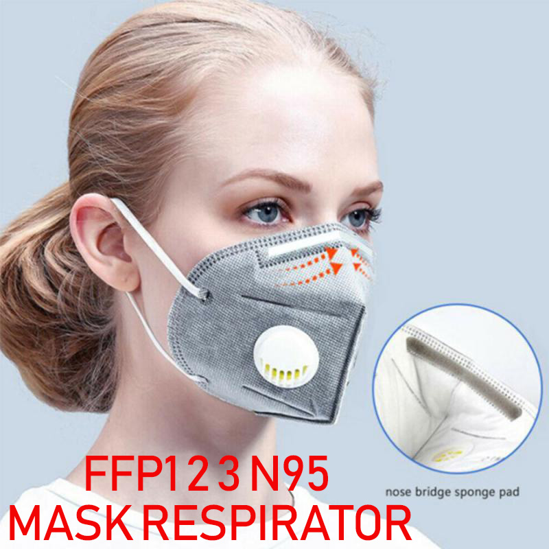 FFP1 2 3 Mask Respirator Anti Dust PM2.5 Filter Mouth Mask Cotton N95 Reusable Proteccion Face Mask As KF94 Pff3 Mask In Stock