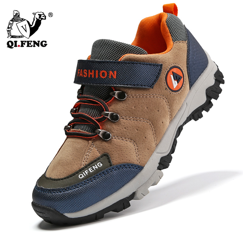 Winter Kids Snow Shoes Children Hiking Shoes Walking Climbing Sneakers Leather Comfortable Nonslip Teenagers Casual  Sport Boots