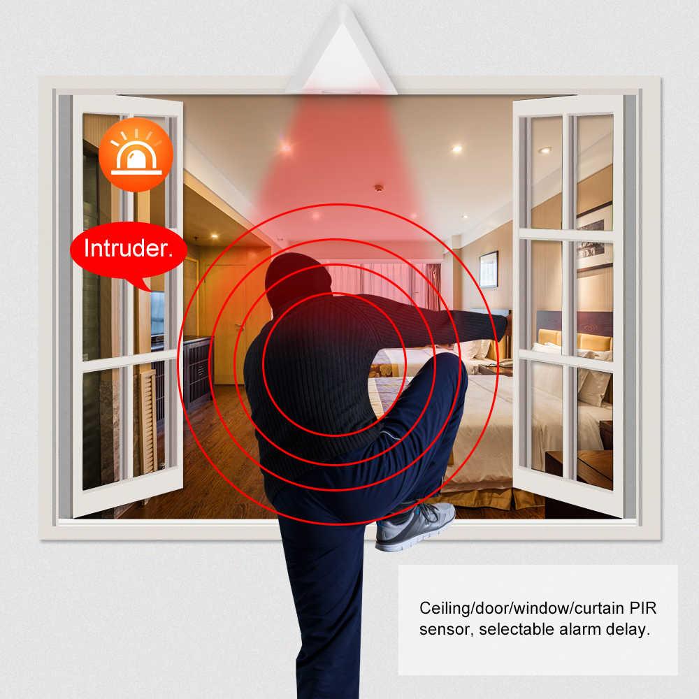 Проводной датчик движения занавеса PIR датчик движения Пассивный оконный занавес инфракрасный детектор для домашняя система охранной сигнализации