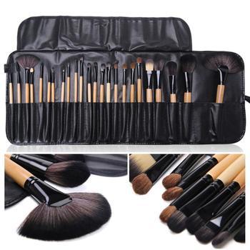24 Uds pinceles de maquillaje base de lujo polvo rubor sombra de ojos corrector juego de brochas de maquillaje herramienta de belleza cosmética con estuche
