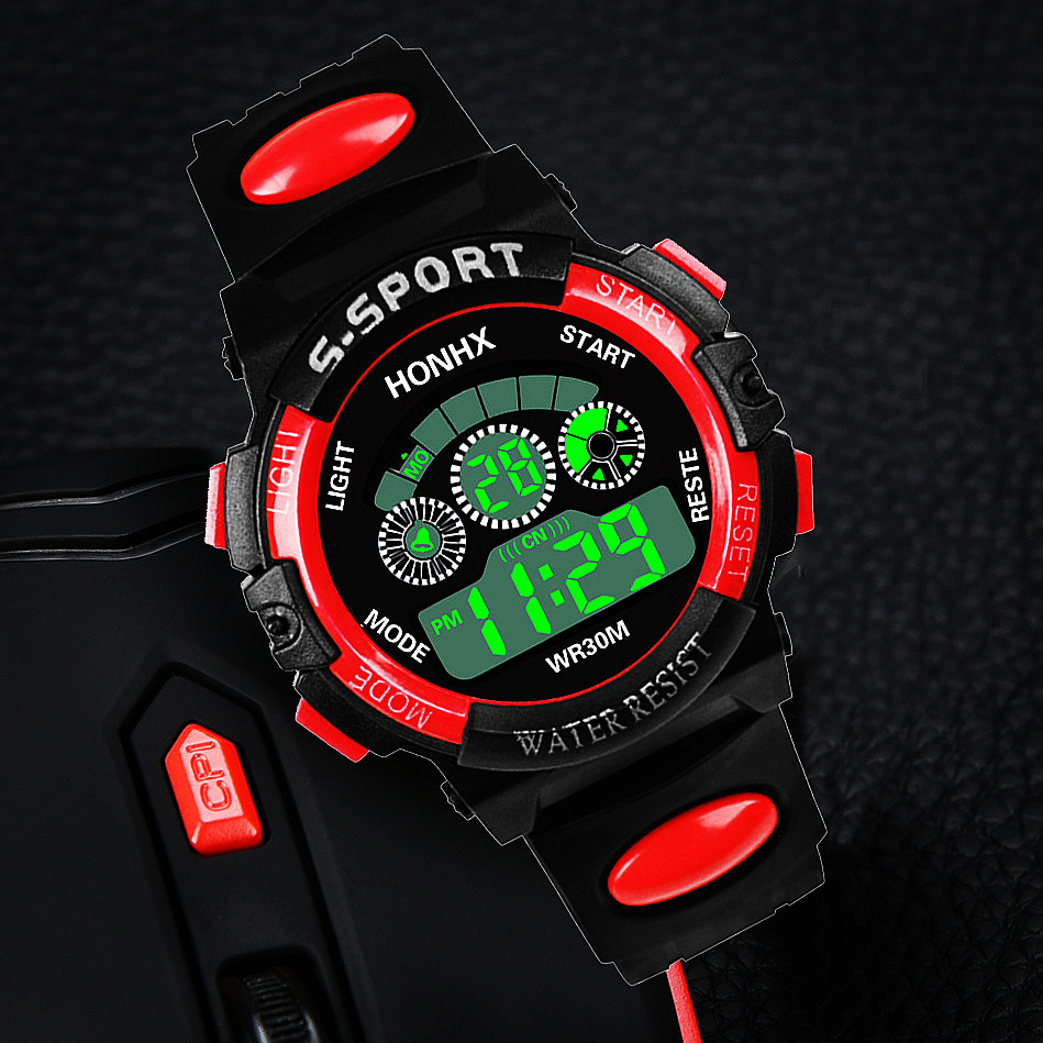 Digital Children's Clock Sports Student Alarm Clocks Fashion Military Kid Boy Girl Gift Baby Wrist Watches Sport Electronic Hour