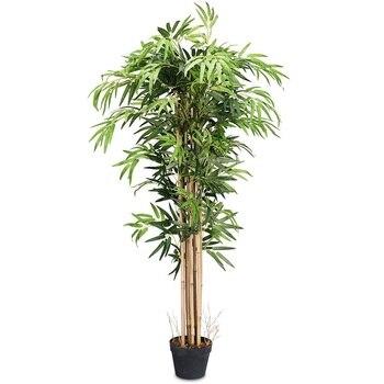 5-Feet Artificial Plants Bamboo Silk Tree Indoor-Outdoor Decorative Planter Home Garden Decoration HW59514