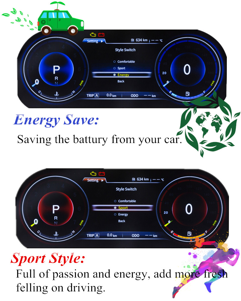 Image 2 - Panlelo Instrument Panel Replacement Dashboard 12.3 inch Navigator with Full Liquid Crystal Instrument for Toyota Prado SWC-in Car Multimedia Player from Automobiles & Motorcycles