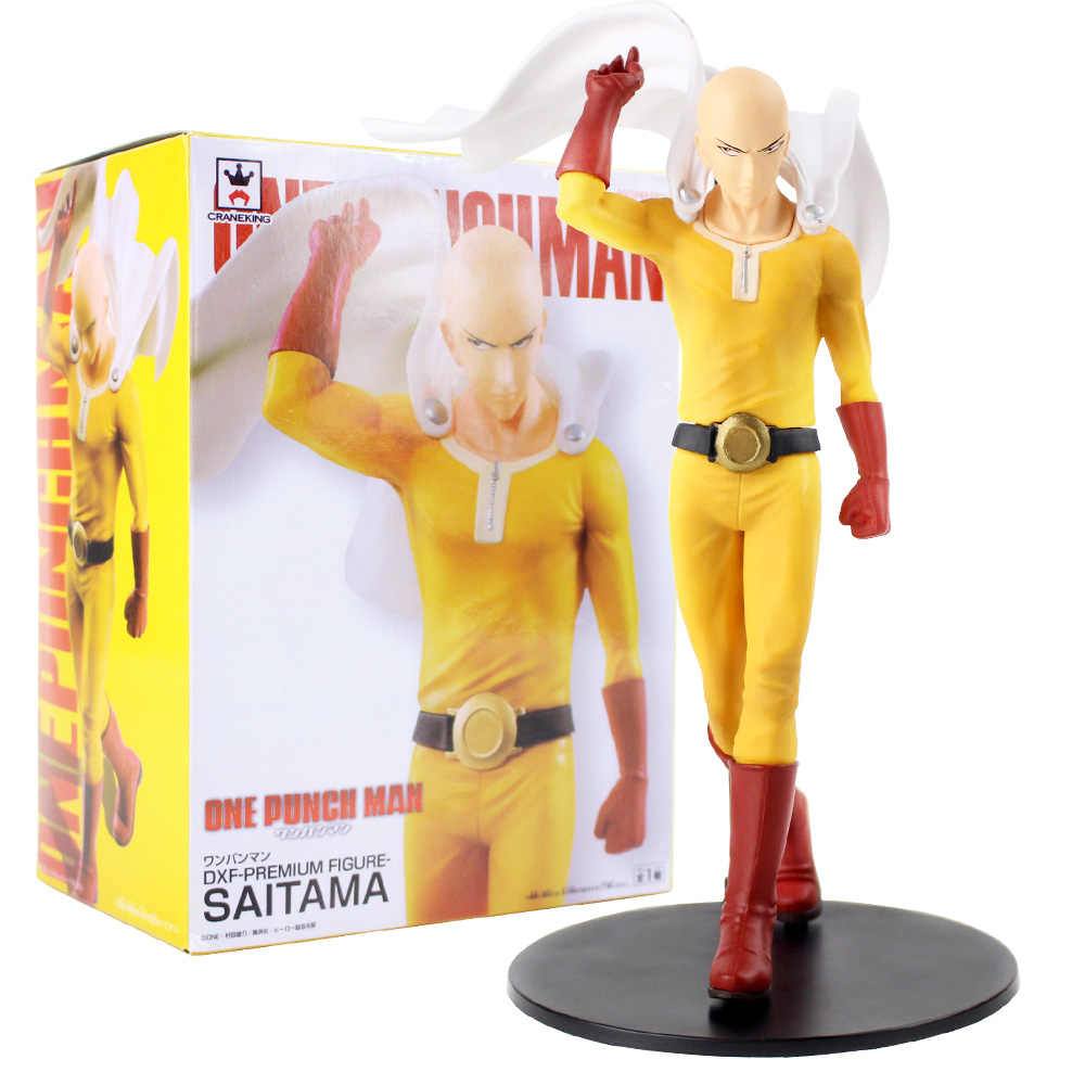 New 9/'/' Anime ONE PUNCH MAN Saitama PVC Figure Model Collection Toy Gift
