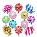 12 шт красочные конфеты фольги Воздушные шары набор круглый леденец фольги воздушные шары для дня рождения свадьбы вечеринки украшения