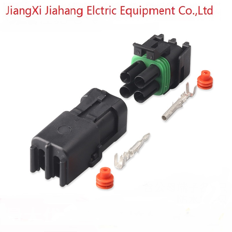 1201579 Free shipping 200sets DJ3041Y-2.5-11/21 4Pin AMP  Car Electrical Wire Connectors for VW,BMW,Audi,Toyota,