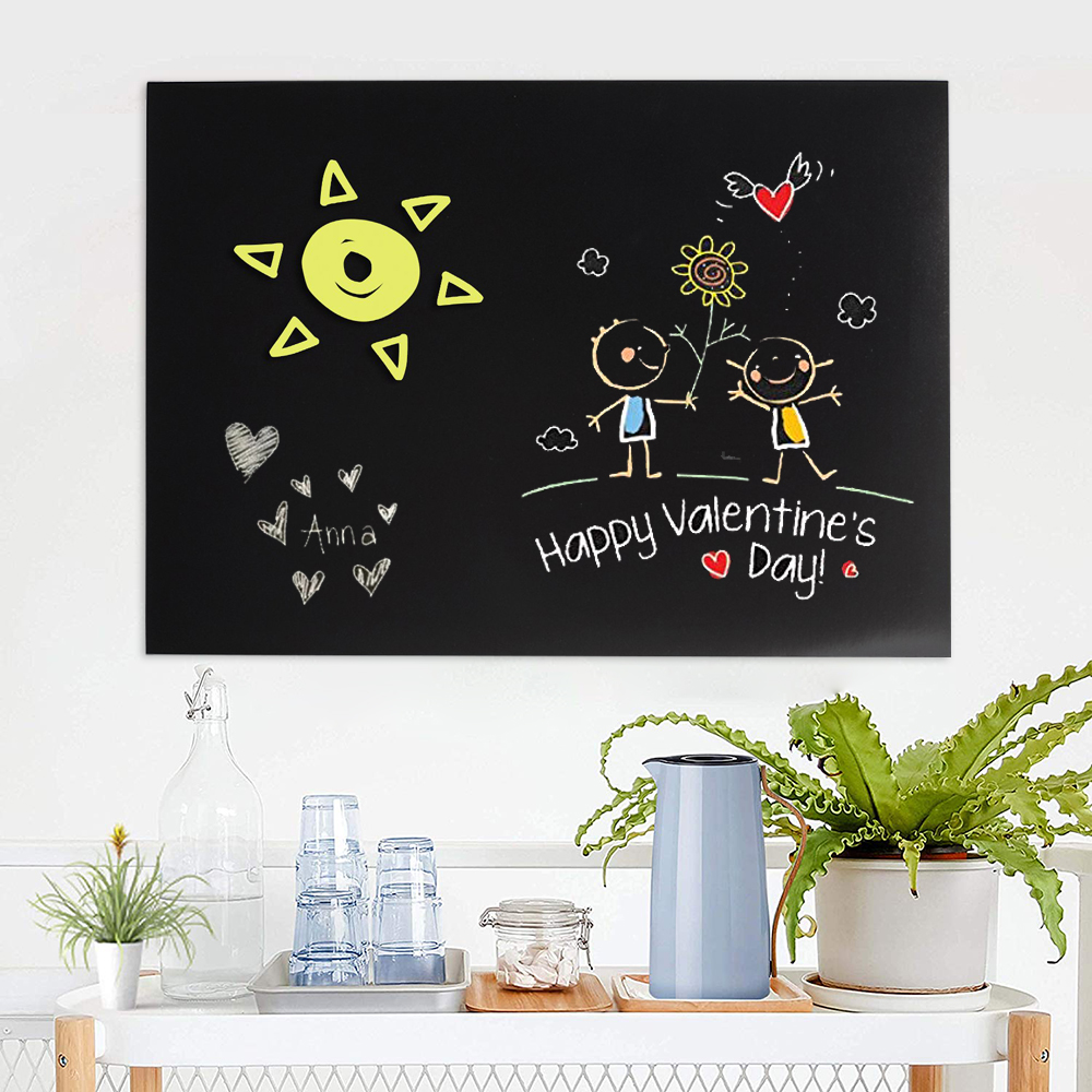 60x40cm Blackboard PVC Wallpaper Self-Adhesive Soft Wall Stickers Removable Reusable Erasable Blackboard For Office Home School