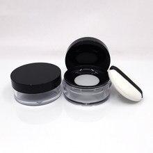 Boîte à poudre en plastique Portable 10g/20g, Pot à poudre vide avec tamis à mailles, Pot de maquillage de voyage pour cosmétiques