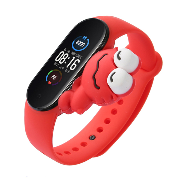 Cartoon Strap For Xiaomi Mi Band 5 6 for Smart Watch Wrist M3 M4 Bracelet For Xiaomi MiBand 5 6 for Mi band 4 Strap Replacement 4