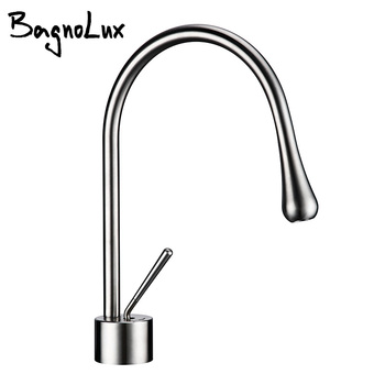 Single handle Single hole Brushed chrome Hot and cold water low and small outlet pipe can be rotated 360 ° Basin faucet Kitchen