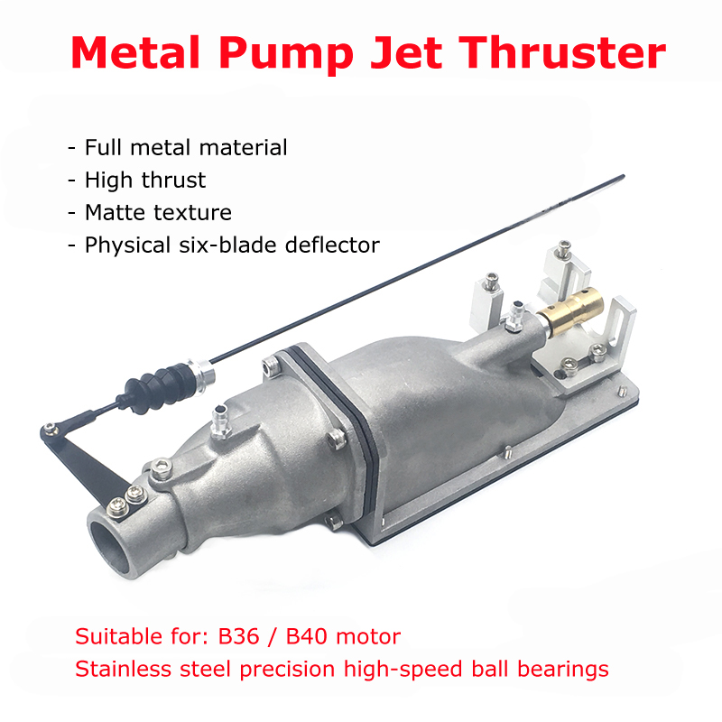 35mm Metal Pump Jet Thruster Drive Aluminum Alloy Water Jet Ejector Spray Water Underwater Propulsion For RC Boat Ship Model