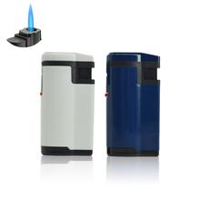 20 sztuk partia zapalniczki wiatroodporny Jet latarka zapalniczki wielokrotnego napełniania butan zapalniczki męskie gadżety tanie tanio CN (pochodzenie) Metal Lakier L5287