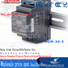 Steady MEAN WELL HDR 30 5 5V 3A Meanwell HDR 30 15W เอาต์พุตเดี่ยวอุตสาหกรรม DIN Rail Power Supply