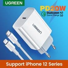 Ugreen 빠른 충전 4.0 3.0 QC PD 충전기 20W QC4.0 QC3.0 USB 유형 C 빠른 충전기 아이폰 12 X Xs 8 Xiaomi 전화 PD 충전기