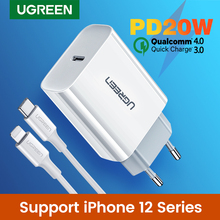 Ugreen Charge rapide 4.0 3.0 QC PD chargeur 20W QC4.0 QC3.0 USB Type C chargeur rapide pour iPhone 12 X Xs 8 Xiaomi téléphone PD chargeur