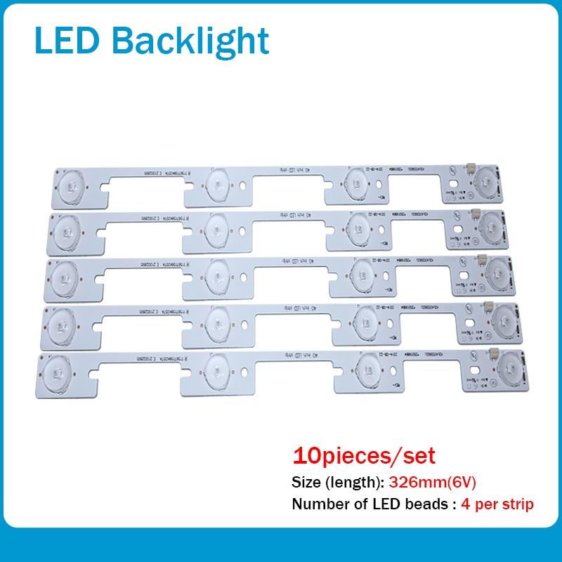 100 Pieces / Lot Original New LED Strip For KONKA KDL40SS662U 35019864 KDL39SS662U 35018339 4 LEDs (6V) 327mm