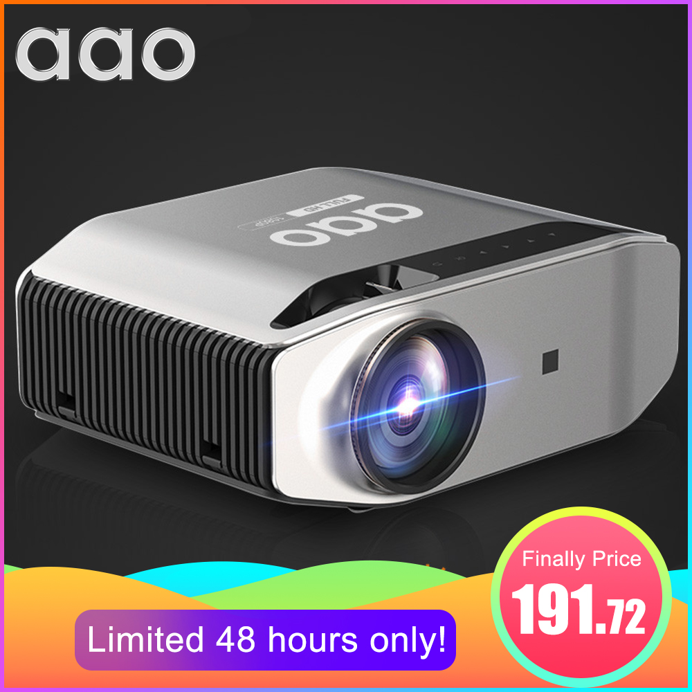 AAO Естественное разрешение 1080p Full HD проектор YG620 LED проектор 1920x1080P 3D домашний кинотеатр YG621 WiFi Multi-Screen проектор
