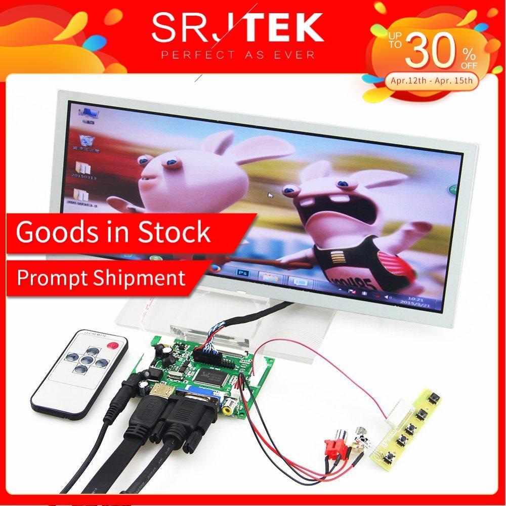 "SRJTEK 12.3"" LCD Display Screen Monitor Driver Board Controller Remote LQ123K1LG03 VS TY2662 V1 HDMI VGA 2AV For Raspberry Pi 3|Tablet LCDs & Panels| |  - title="