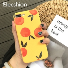 Korea INS Cute Case For iPhone Xr Xs Max Coque 8 7 6 6s Plus Soft Luxury Orange Cartoon Back Covers Shell Accessories