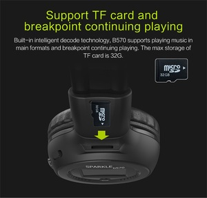 Image 3 - ZEALOT B570 Stereo Bluetooth Wireless Headphone With Mic Handsfree Headset with fm radio for iPhone Samsung Support TF Card