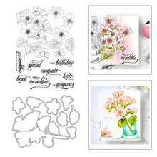 2020 New Plant Flower Leaf Branch Kapok Bouquet Metal Cutting Dies and Stamps Set For DIY Scrapbooking Paper Craft Card Making(China)