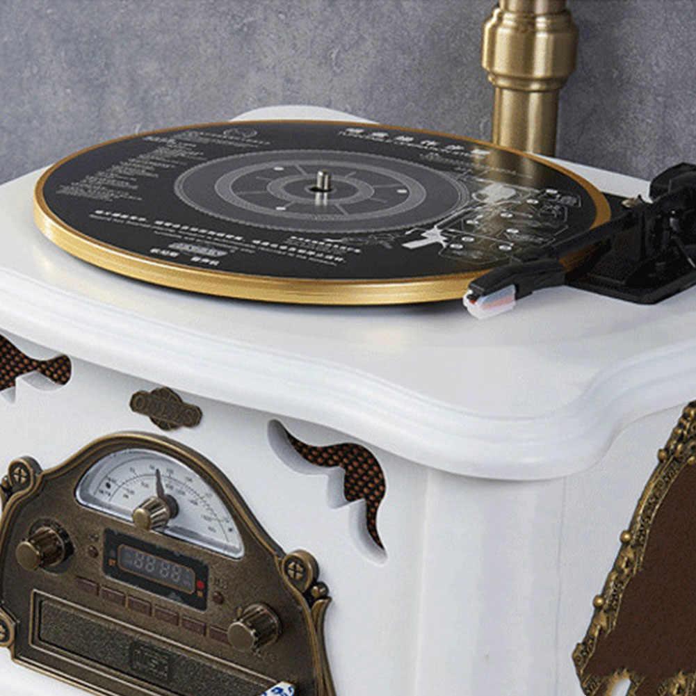 28 センチメートルアクセサリーヴィンテージ蓄音機ターンテーブルビニールオーディオ交換 33 45 78Rpm 自動曲線アームステレオ調整可能な 3 スピード