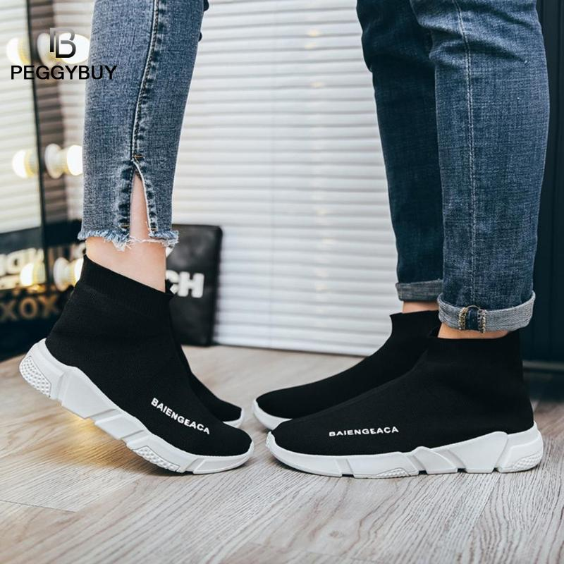 Fashion Sneakers Women Trainers Casual Slip On Socks Shoes