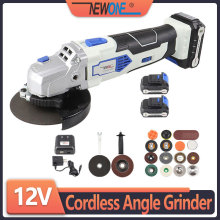 Angle-Grinder Grinding-Machine Cordless Newone 12v Angular Power-Tool Cutting with 2000mah