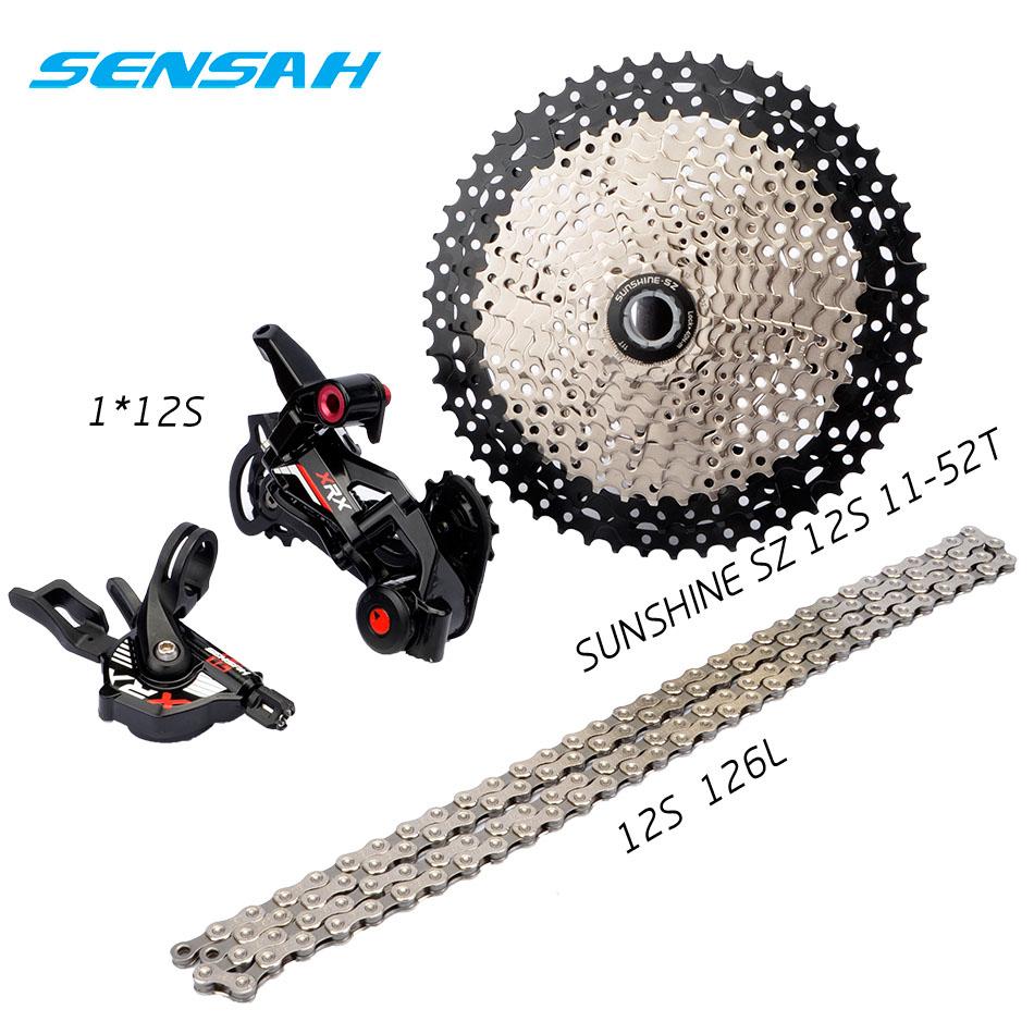SENSAH 12speed 12s Bicycle Shifting M8100 M9100 Cassette 11-52T Derailleur Chain gear wheel bike MTB