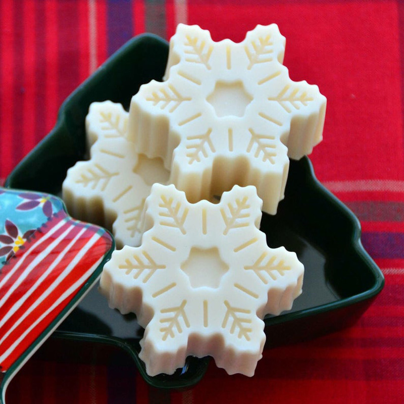 SJ 6 Cavity 3D Snowflake Soap Mold Silicone Mould Resin Mould For DIY Handicraft Candle Soap Making