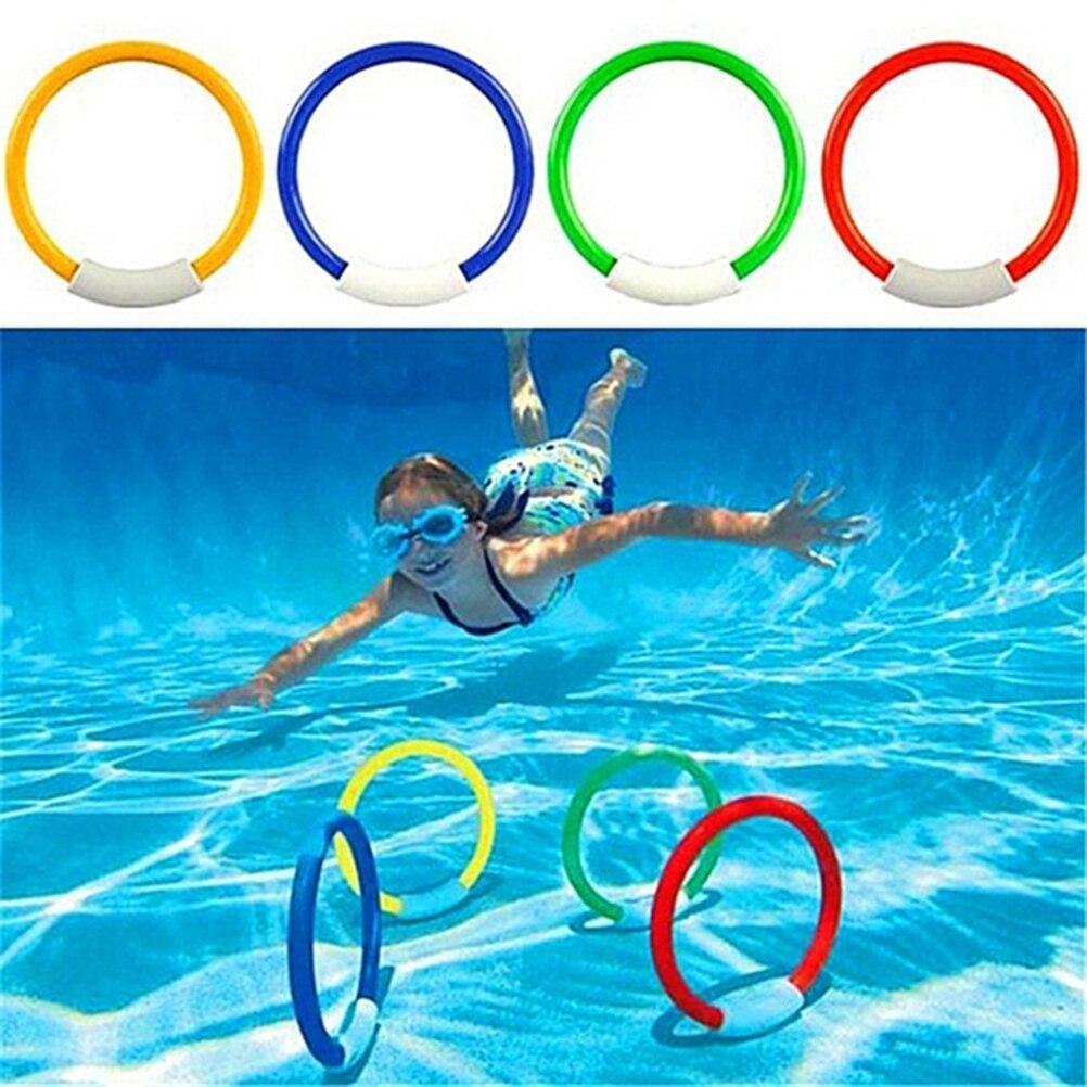 4 Pcs/Pack Child Kid Swimming Pool Underwater Diving Rings Toys Underwater Swimming Pool Diving Summer Beach Water Play Toys #20