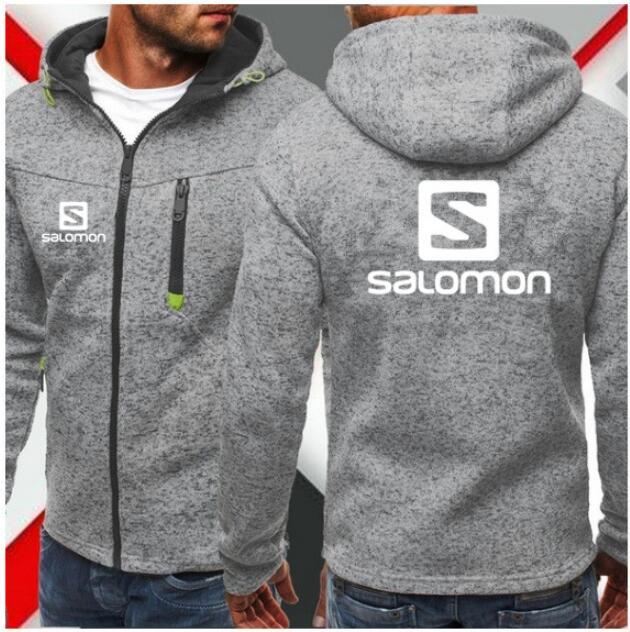 2019 New Fashion Hoody Salomon Printed Men Hoodies Sweatshirts Casual Hooded Jacket Coat Cardigan Plus Fleece Mens Clothing