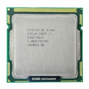INTEL CORE i5-680 cpu i5 680 3,6 GHz двухъядерный процессор 4M Socket LGA1156 настольный процессор