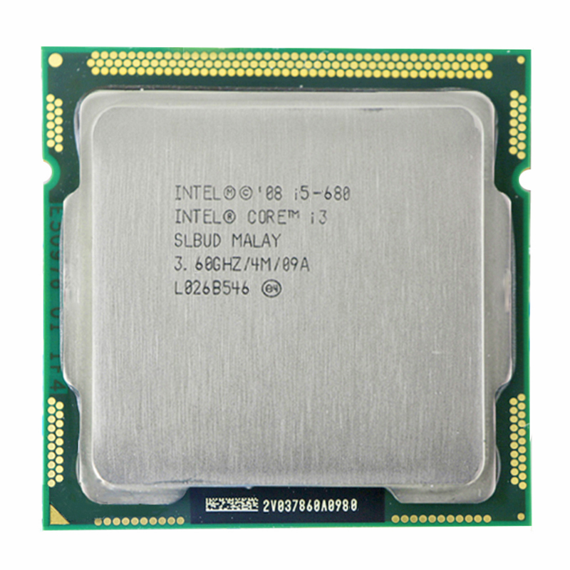 INTEL CORE I5-680 CPU I5 680 3.6 GHz Dual-Core 4M Socket LGA1156 Desktop CPU
