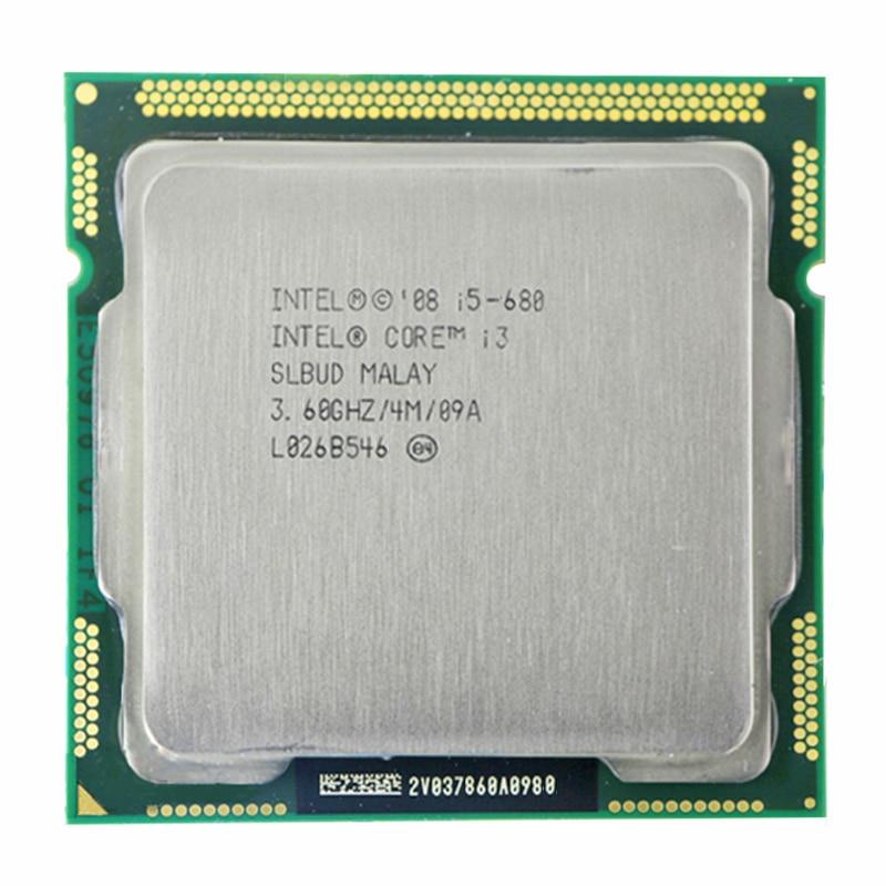 INTEL CORE I5-680 CPU I5 680 3.6 GHz Dual-Core 4M Socket LGA1156 Desktop CPU