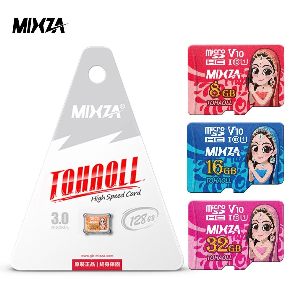 MIXZA Goddess Memory Card 256GB 128GB 64GB U3 80MB/S 32GB Micro Sd Card Class1Class10 UHS-1 Flash Card Memory Microsd TF/SD Card